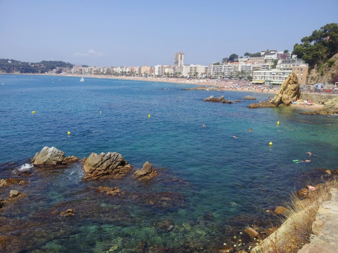 Lloret de mar coast in costa brava