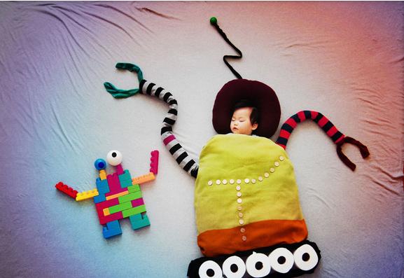 creative mum robot baby