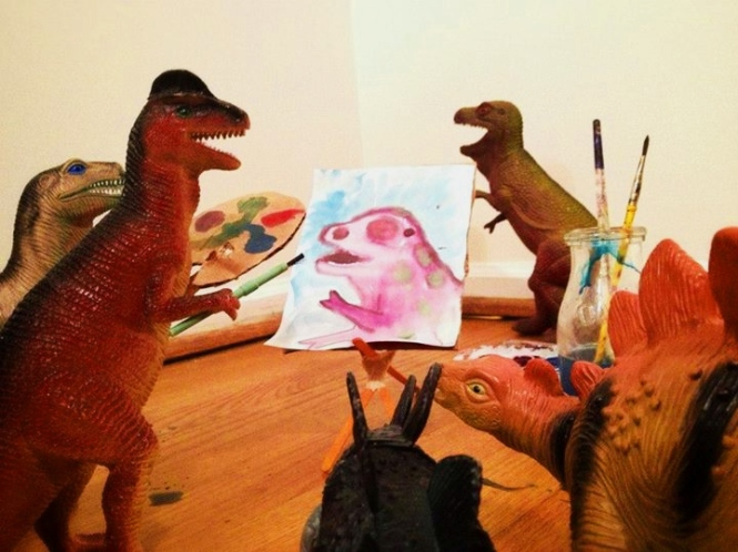 creative parents dinovember