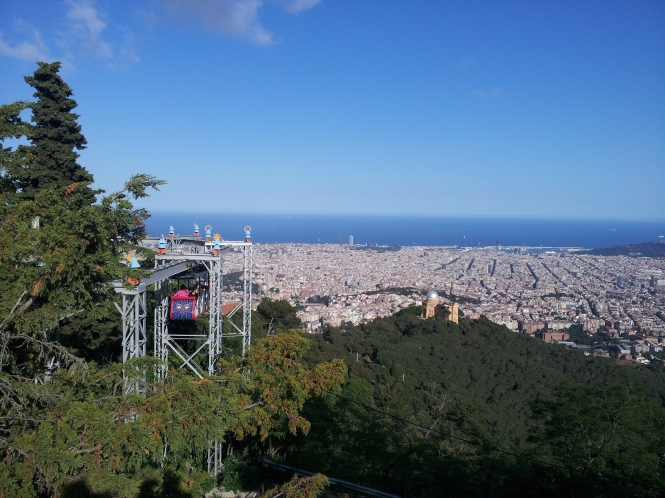 Barcelona views from Tibidabo
