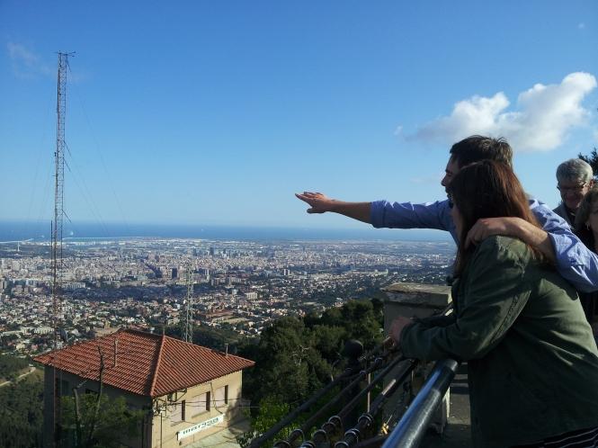 barcelona views from Tibidabo