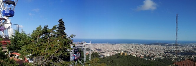 pANORAMIC VIEW OF bARCELONA FROM TIBIDABO