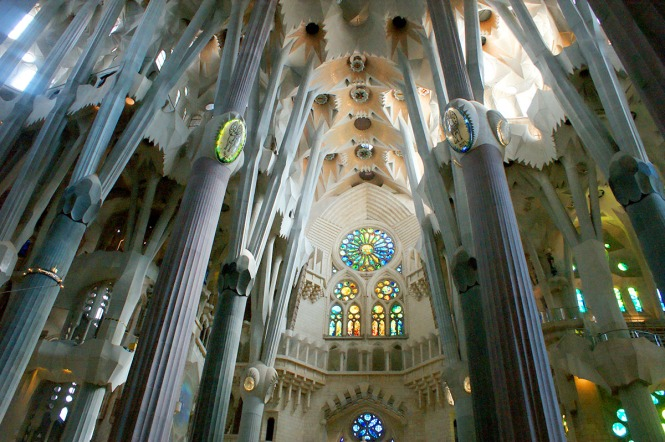 interior of la sagrada familia