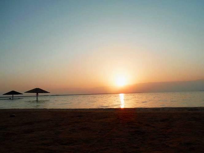 israel dead sea sunrise