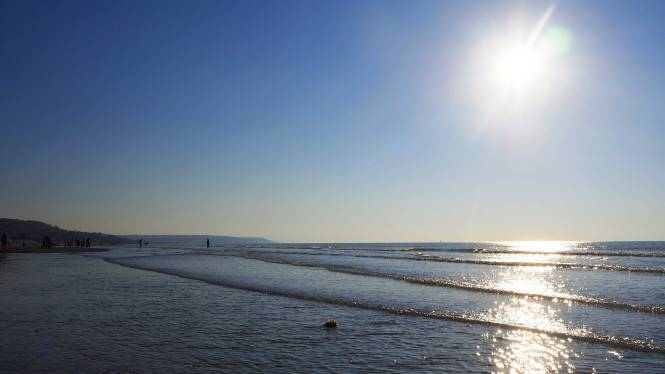 mer deauville sea normandy